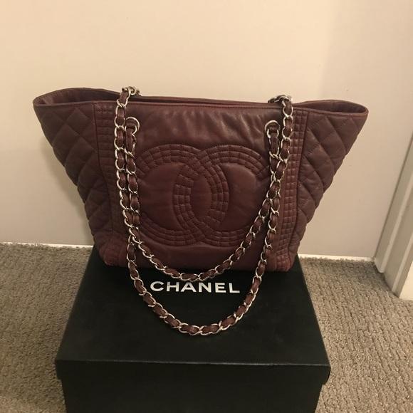 fa45bda0da0 CHANEL Bags | Authentic Red Grand Shopper Tote Quilted | Poshmark
